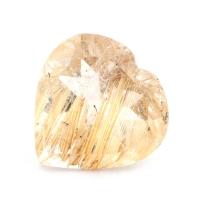 Кварц с включениями сердце вес 3.36 карат, размер 11.3х11мм (quartzinc0064)