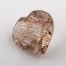 Кварц с включениями сердце вес 3.23 карат, размер 11.2х10.8мм (quartzinc0065)