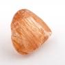 Кварц с включениями сердце вес 3.54 карат, размер 11х10.9мм (quartzinc0067)