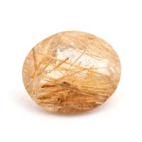 Кварц с включениями овал вес 2.64 карат, размер 10.9х9мм (quartzinc0069)