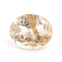 Кварц с включениями овал вес 3.11 карат, размер 10.8х8.8мм (quartzinc0070)