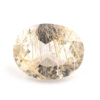 Кварц с включениями овал вес 2.92 карат, размер 11х8.8мм (quartzinc0071)