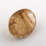 Кварц с включениями овал вес 3.39 карат, размер 11.2х9мм (quartzinc0072)