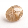Кварц с включениями овал вес 2.49 карат, размер 11.1х9мм (quartzinc0074)