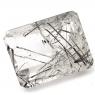 Кварц с включениями турмалина октагон вес 19.99 карат, размер 19.6х14.9мм (quartzinct0016)