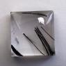 Кварц с включениями турмалина кабошон квадрат, вес 43.82 карат, размер 23х22.3мм (quartzinct0026)