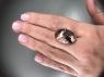 Кварц с включениями турмалина кабошон овал, вес 22.88 карат, размер 23х16.3мм (quartzinct0029)