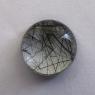 Кварц с включениями турмалина кабошон круг, вес 8 карат, размер 13.5х13.5мм (quartzinct0033)
