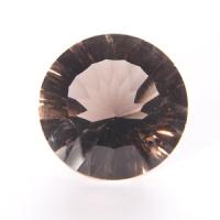 Раухтопаз (дымчатый кварц) круг средний вес 12.8 карат, размер 16х16мм (rauh0007)