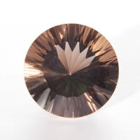 Раухтопаз (дымчатый кварц) круг вес 26.6 карат, размер 20х20мм (rauh0009)