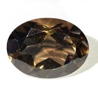 Раухтопаз (дымчатый кварц) овал вес 8.95 карат, размер 16х12мм (rauh0016)