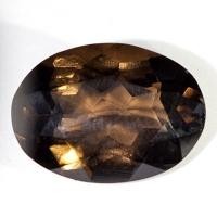 Раухтопаз (дымчатый кварц) овал вес 11.9 карат, размер 18х13мм (rauh0017)