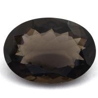 Раухтопаз (дымчатый кварц) овал вес 23.35 карат, размер 24.8х17.8мм (rauh0039)