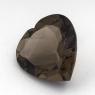 Раухтопаз (дымчатый кварц) сердце размер 18х18мм (rauh0041)