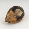 Раухтопаз (дымчатый кварц) груша, вес 24.28 карат, размер 25.2х17.15мм (rauh0045)