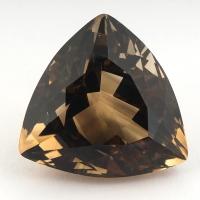 Раухтопаз (дымчатый кварц) триллион, вес 57.9 карат, размер 26х25.4мм (rauh0047)