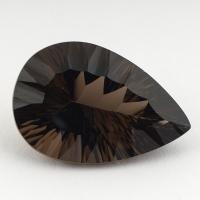 Раухтопаз (дымчатый кварц) груша, вес 32.39 карат, размер 29.8х20.4мм (rauh0052)