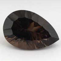 Раухтопаз (дымчатый кварц) груша, вес 41.01 карат, размер 30.1х20мм (rauh0053)