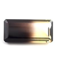 Цитрин-раух октагон вес 79.47 карат, размер 41х19.3мм (rautr0007)