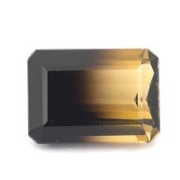 Цитрин-раух октагон вес 15.38 карат, размер 18х13мм (rautr0017)
