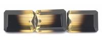 Комплект полихромных раухтопазов формы октагон, общий вес 43.85 карат, размер 18х12.9мм (rautr0018)
