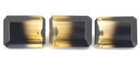 Комплект полихромных раухтопазов формы октагон, общий вес 64.2 карат, размер 20.3х15.3мм (rautr0019)