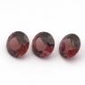 Комплект круглых родолитов, общий вес 4.09 карат, размер 7х7мм (rhod0072)
