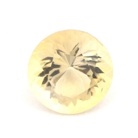 Жёлтый скаполит круг вес 1.49 карат, размер 7.7х7.6мм (sc0011)