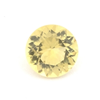 Жёлтый скаполит круг вес 0.88 карат, размер 6.6х6.6мм (sc0012)