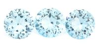 Комплект небесно-голубых топазов отличной российской огранки формы круг, общий вес 6.29 карат, размер 8х8мм (sky0089)