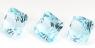 Комплект небесно-голубых топазов отличной российской огранки формы квадрат, общий вес 13.97 карат, размер 9.1х9мм (sky0091)