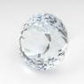 Бледно-голубой топаз отличной российской огранки круг, вес 17 карат, размер 14.3х14.2мм (sky0094)