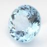 Небесно-голубой топаз круг, вес 28.24 карат, размер 18.3х18.3мм (sky0096)