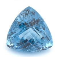Небесно-голубой топаз триллион, вес 65.69 карат, размер 23.9х23.6мм (sky0098)