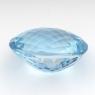 Небесно-голубой топаз овал, вес 43.7 карат, размер 23.1х19мм (sky0100)