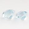 Пара небесно-голубых топазов отличной российской огранки формы квадрат, общий вес 5.16 карат, размер 7.2х7.1мм (sky0105)