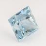 Небесно-голубой топаз отличной российской огранки формы квадрат, вес 5.87 карат, размер 9.1х9.1мм (sky0107)
