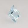 Небесно-голубой топаз отличной российской огранки формы квадрат, вес 2.83 карат, размер 7.5х7.5мм (sky0109)