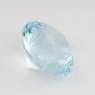 Небесно-голубой топаз отличной российской огранки формы круг, вес 3.62 карат, размер 9.1х9.1мм (sky0111)