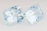 Пара голубых топазов отличной российской огранки формы октагон, вес 12.73 карат, размер 11.1х9.1мм (sky0113)