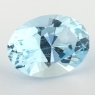 Небесно-голубой топаз отличной российской огранки формы овал, вес 15.12 карат, размер 18х13.1мм (sky0120)
