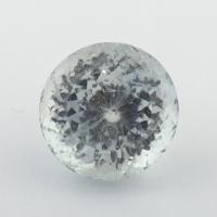 Бледно-голубой топаз отличной российской огранки формы круг, вес 4.43 карат, размер 9х9мм (sky0127)