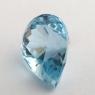 Небесно-голубой топаз отличной российской огранки формы груша, вес 7.07 карат, размер 13.5х9.8мм (sky0130)