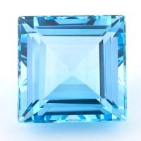 Небесно-голубой топаз формы квадрат, вес 43.15 карат, размер 19.9х19.7мм (sky0131)