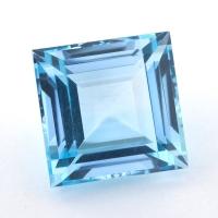 Небесно-голубой топаз формы квадрат, вес 24.53 карат, размер 16х16мм (sky0132)