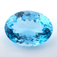 Небесно-голубой топаз формы овал, вес 39.05 карат, размер 24.8х19.5мм (sky0135)