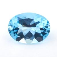 Небесно-голубой топаз формы овал, вес 25 карат, размер 21.8х16мм (sky0136)