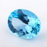 Небесно-голубой топаз формы овал, вес 29.55 карат, размер 22х17.6мм (sky0137)