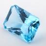 Небесно-голубой топаз формы октагон, вес 31.87 карат, размер 21.8х16мм (sky0142)