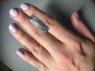 Небесно-голубой топаз отличной российской огранки формы багет, вес 19.65 карат, размер 27.8х9мм (sky0145)